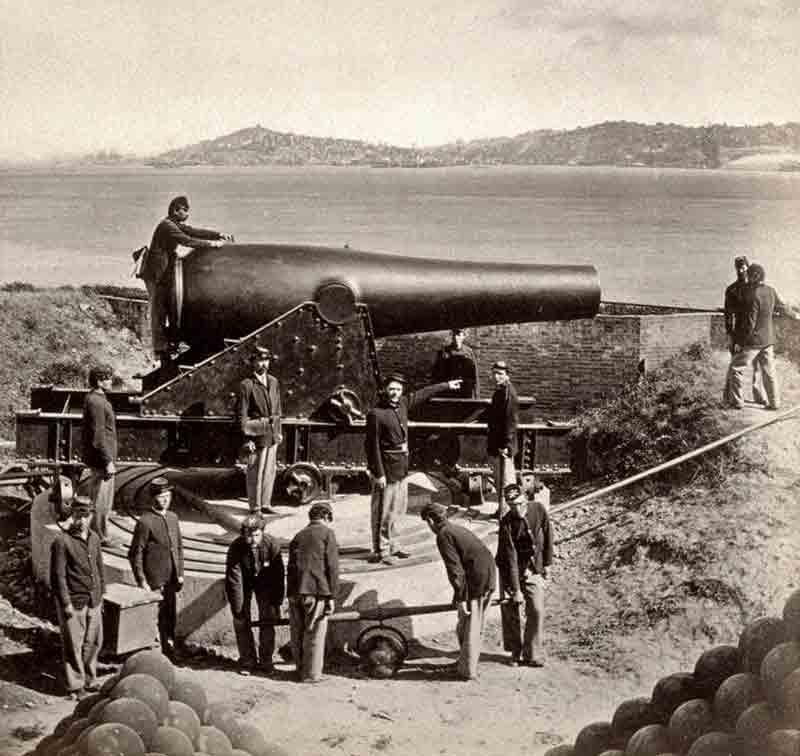 La isla de Alcatraz durante la Guerra Civil estadounidense