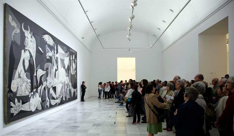 El Guernica expuesto en el Museo Reina Sofía de Madrid