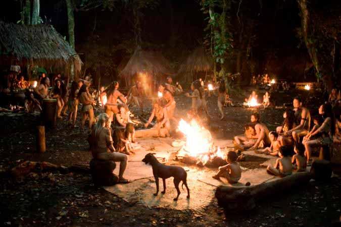 Escena de la aldea protagonista de la película