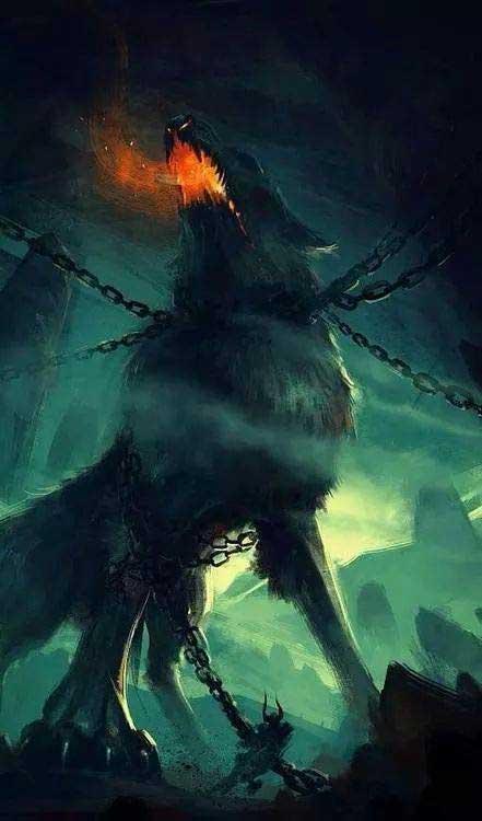 Representación del lobo Fenrir