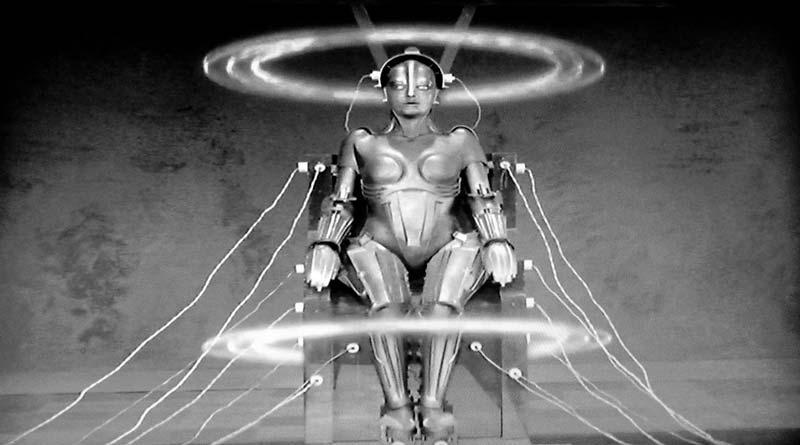 Escena de la película de ciencia ficción Metropolis donde sale el robot Maria