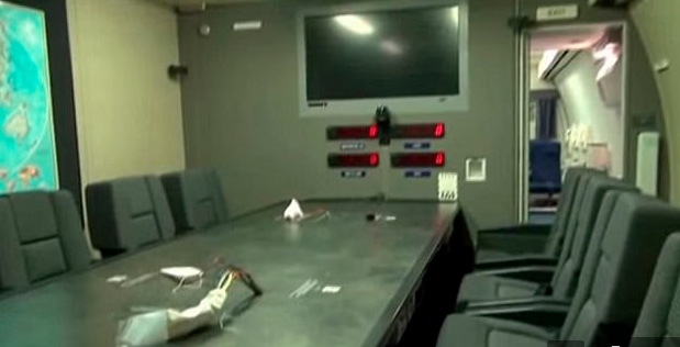 Interiores del Avión del Juicio Final