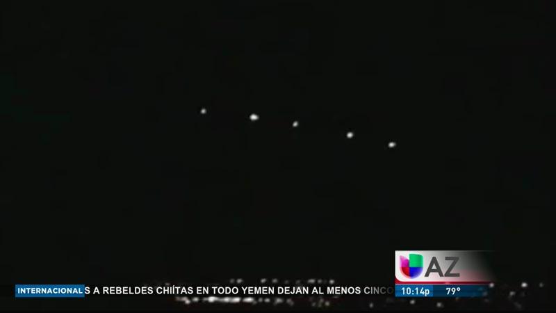 Captura de las luces avistadas en Phoenix, Arizona, en 1977