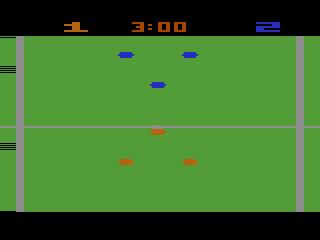 Pantalla del videojuego Pelé's Soccer de Atari 2600