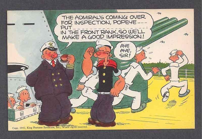 Popeye durante la II Guerra Mundial