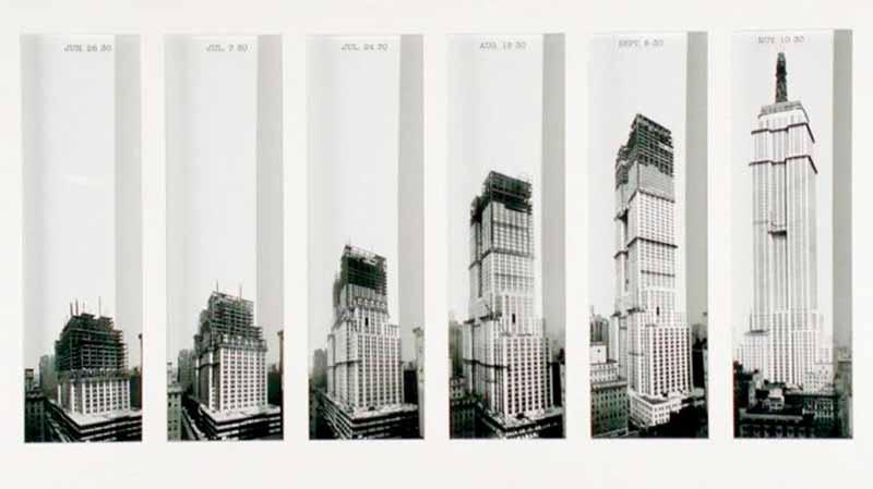 Proceso de construcción del Empire State Building