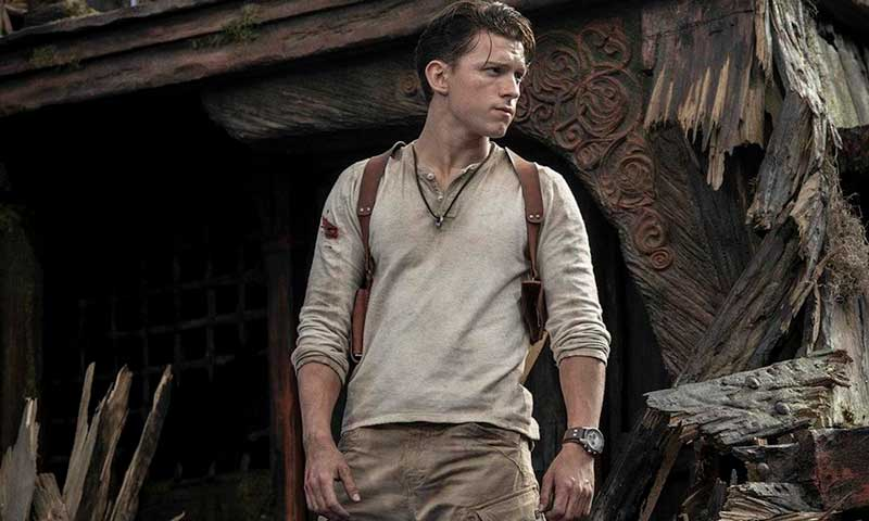 Tom Holland caracterizado como Nathan Drake, imagen que el mismo actor publicó en sus redes sociales