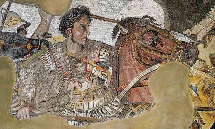 Mosaico de Alejandro Magno sobre Bucéfalo