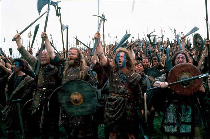 Escena de la película Braveheart
