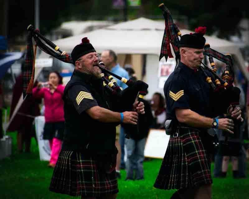 Gaitas en las filas del ejército escocés en la actualidad
