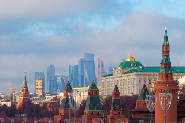 El Gran Palacio del Kremlin, residencia oficial del presidente de Rusia