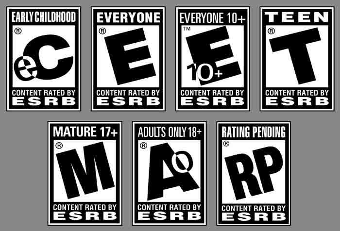 Etiquetas de autorregulación y clasificación de los videojuegos de la ESRB