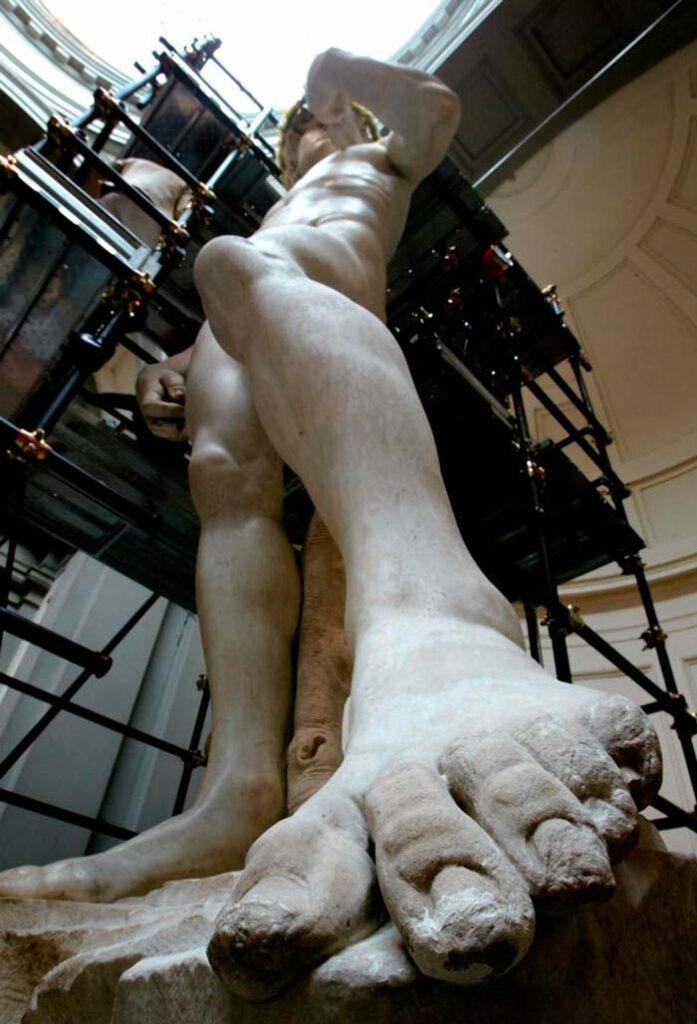 Proceso de restauración del David de Miguel Ángel