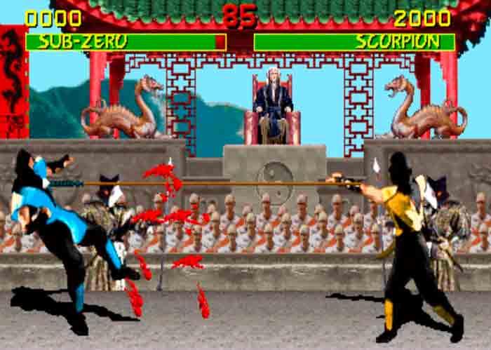 La representación de la sangre en Mortal Kombat