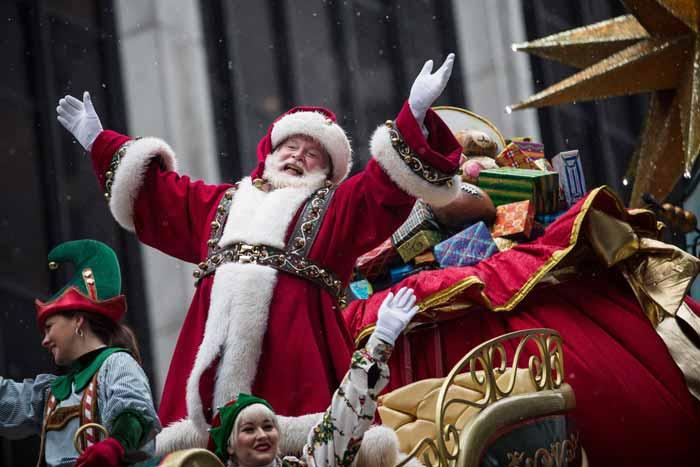 Desfile de Santa Claus de la tienda Macy's el Día de Acción de Gracias