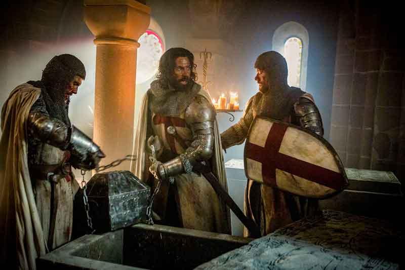 Representación de los Caballeros Templarios