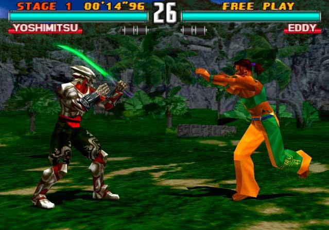 Pelea entre Yoshimitsu y Eddy en Tekken 3
