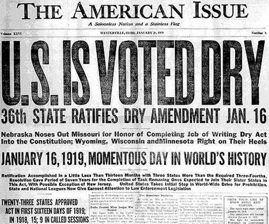 Antecedentes y consecuencias de la ley seca en EE.UU.