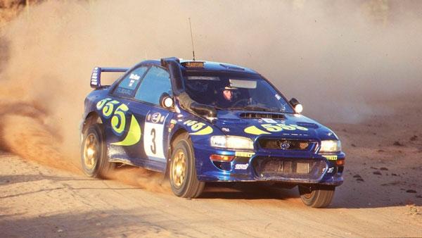 Colin McRae en carrera al control de su mítico Subaru