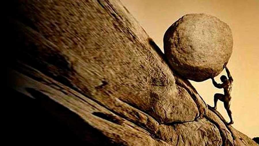 El relato de Sísifo en la mitología griega, el hombre que logró engañar a los dioses