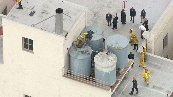 El tanque de agua del Hotel Cecil donde Elisa fue encontrada