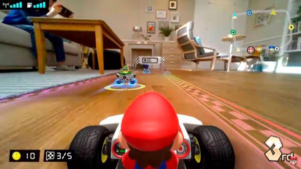 Pantalla de Mario Kart Live