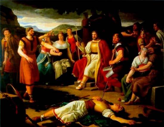 Representación de la muerte de Baldur