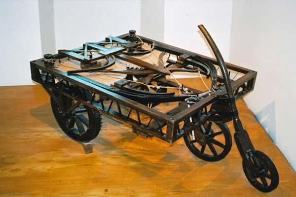 El prototipo de coche mecanizado de Leonardo da Vinci