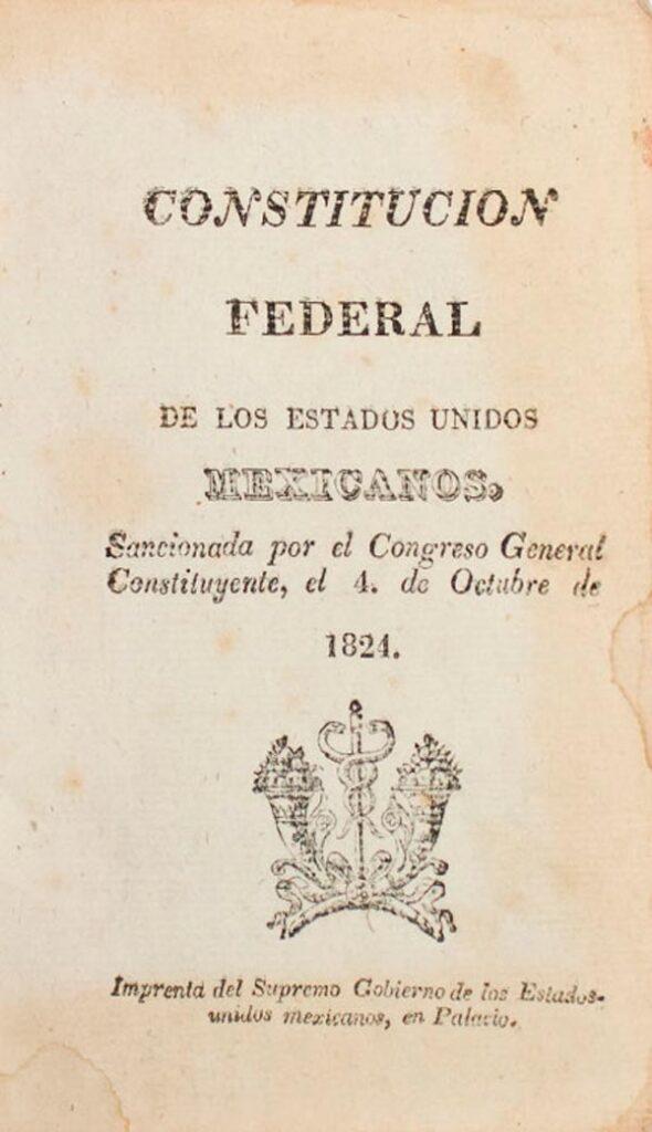 Primera Constitución de México tras su independencia, firmada en 1824