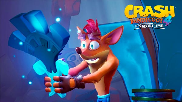 Crash con una máscara cuántica en Crash Bandicoot 4