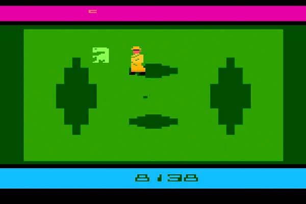 Pantalla del juego ET el extraterrestre de Atari