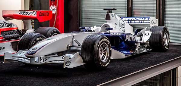El chasis de un coche de Fórmula 1