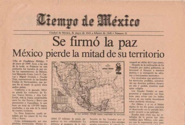 El tratado de Guadalupe Hidalgo por el que México cedió la mitad de su territorio a Estados Unidos
