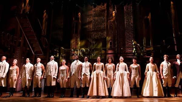 Escena del musical Hamilton
