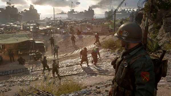 Escena del modo campaña en Call of Duty WWII