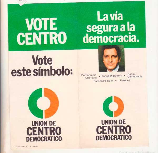 Folleto electoral de Unión de Centro Democrático para las elecciones de 1977
