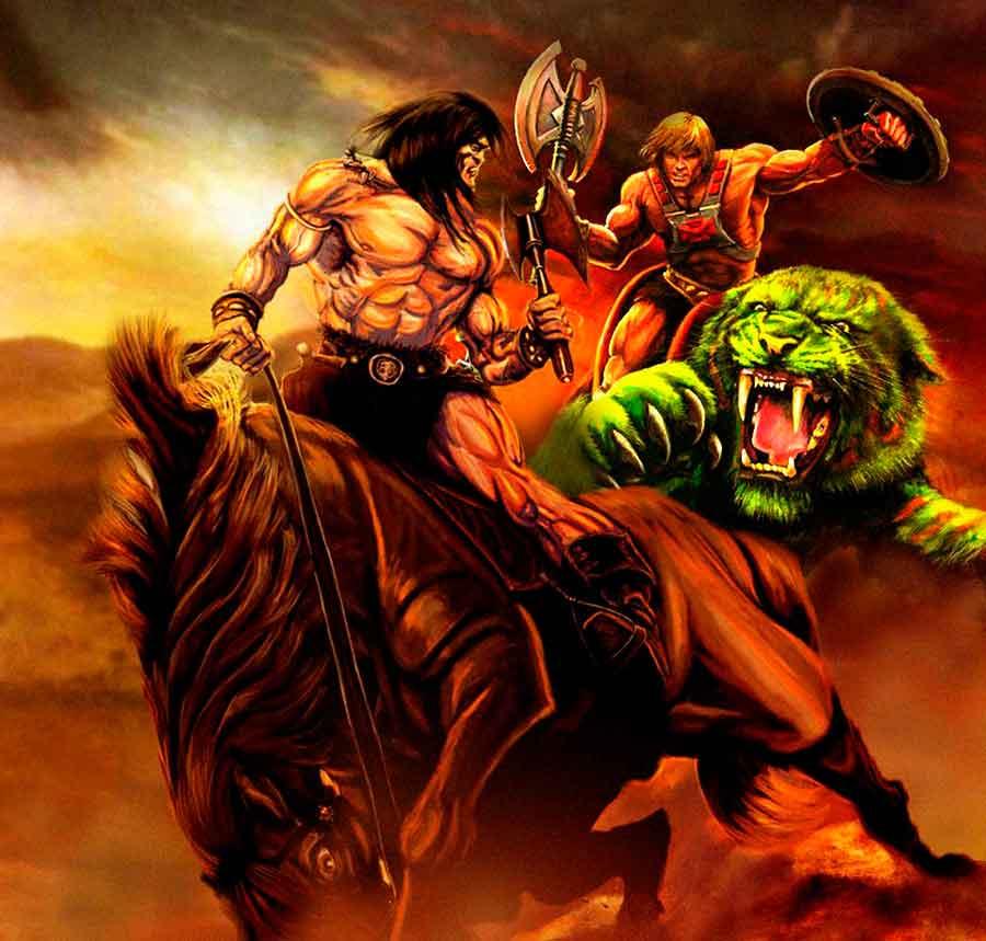La curiosa disputa de los juguetes de He-Man y Conan el Bárbaro