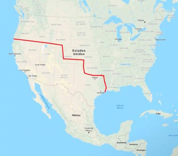 Comparación del territorio de México antes y después de la firma del Tratado de Guadalupe Hidalgo