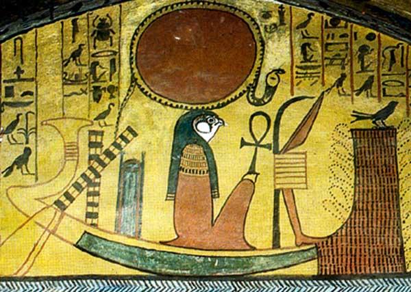 Representación jeroglífica del dios del Sol, Ra