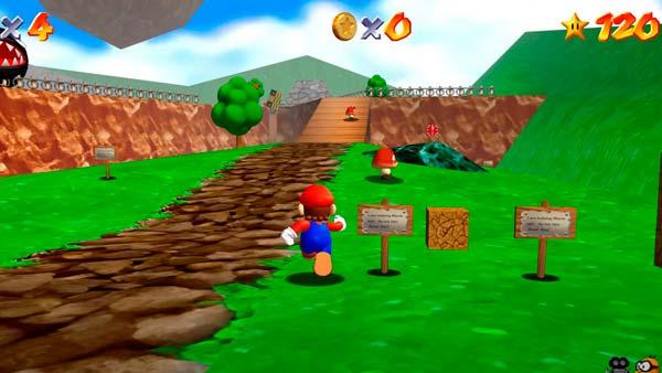 Pantalla de Super Mario 64