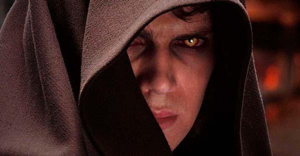 Anakin Skywalker en el lado oscuro de la Fuerza, en Star Wars