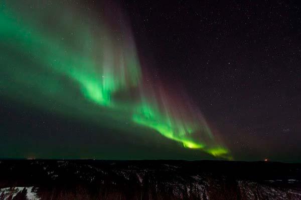 Fotografía de una aurora