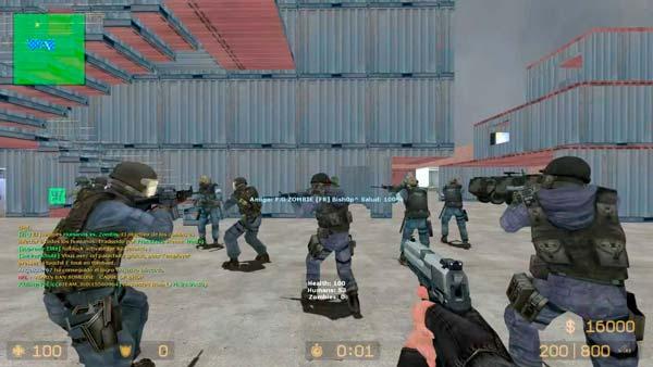 Pantalla de Counter Strike Source