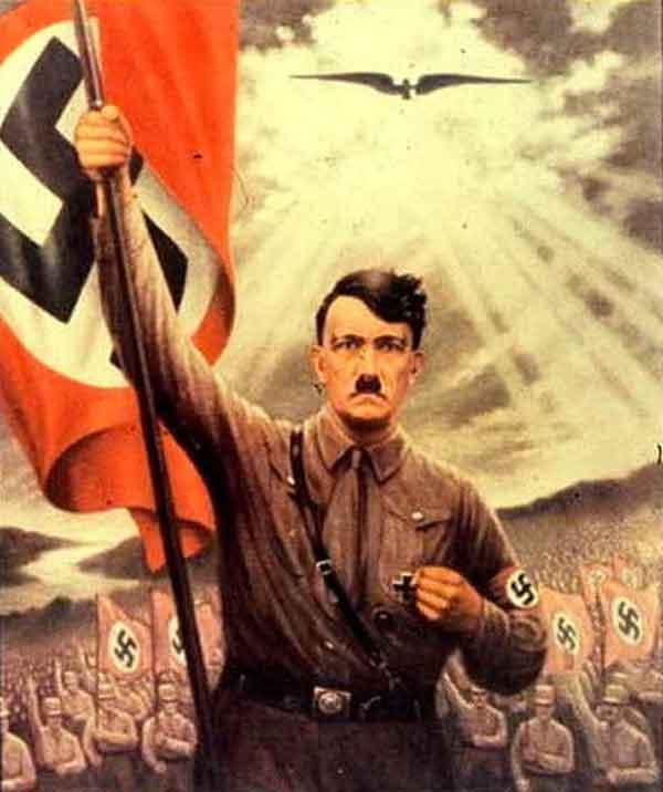 Ejemplo de cartel de propaganda nazi