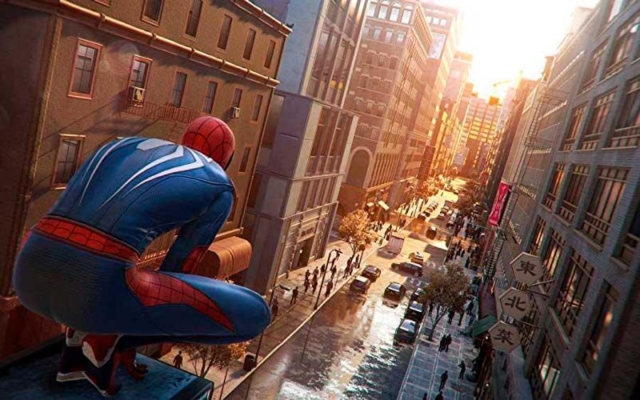 El distrito de Manhattan en el videojuego Spider-Man de 2018