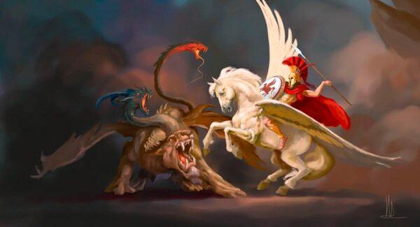 El mito del legendario héroe griego Belerofonte