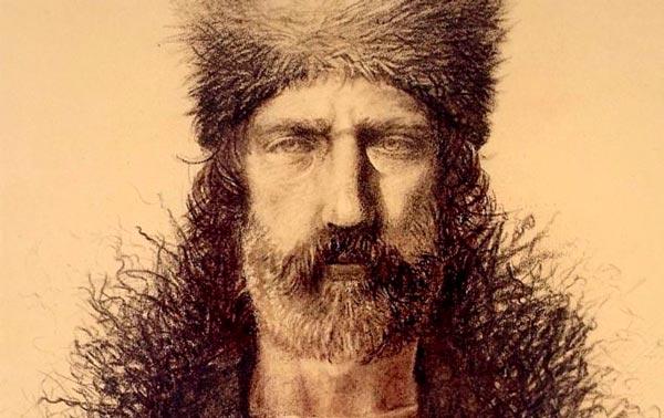 Retrato del cazador Hugh Glass