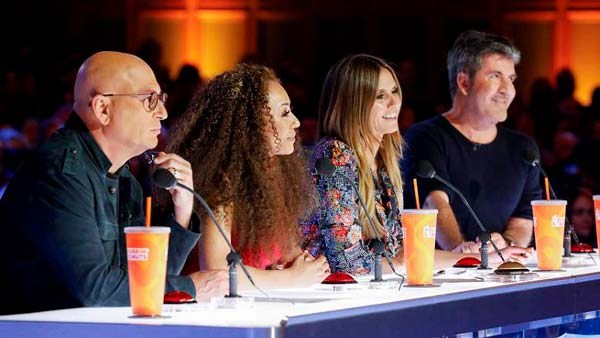 Jueces de America's Got Talent en 2018: Howie Mandel, Mel B, Heidi Klum y Simon Cowell