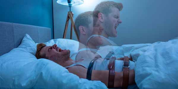 Representación de cómo se siente la parálisis del sueño