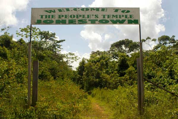 Uno de los accesos a Jonestown